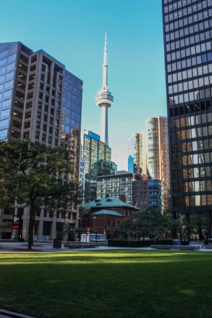 CN Tower from Downtown Toronto