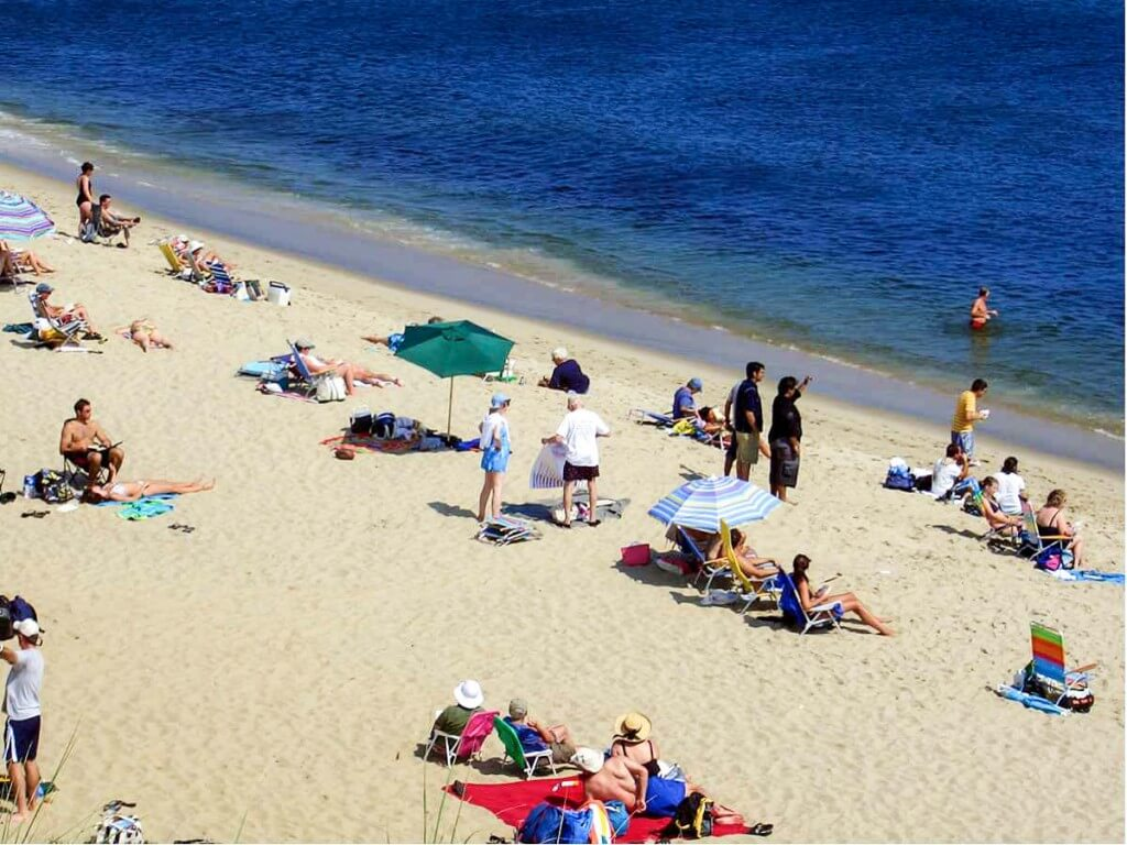 Bathing at Sandy Neck Beach - Cape Cod Accommodations