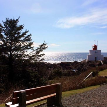 Wandern bei Ucluelet, Vancouver Island auf dem Wild Pacific Trail