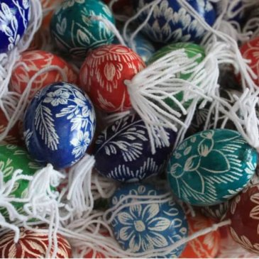 Painted easter eggs - Easter tradition in Burgenland