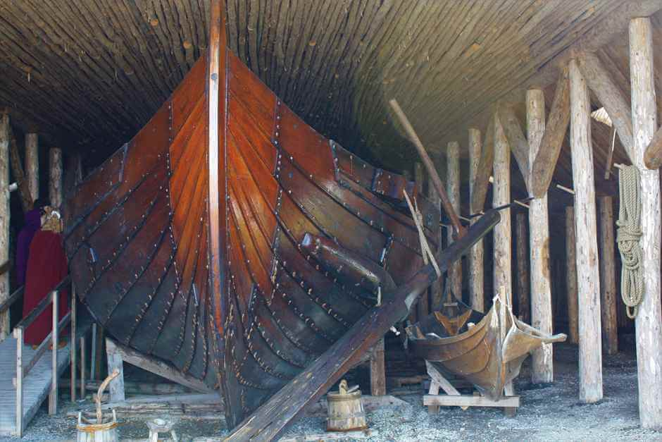 Viking boat at L'Anse aux Meadows Viking Site