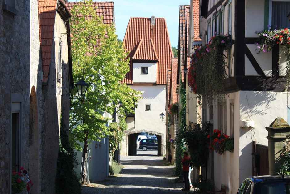 In the Franconian wine country hike through Sulzfeld