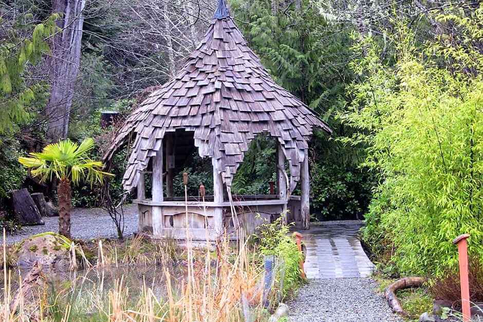 In the botanical garden of Tofino