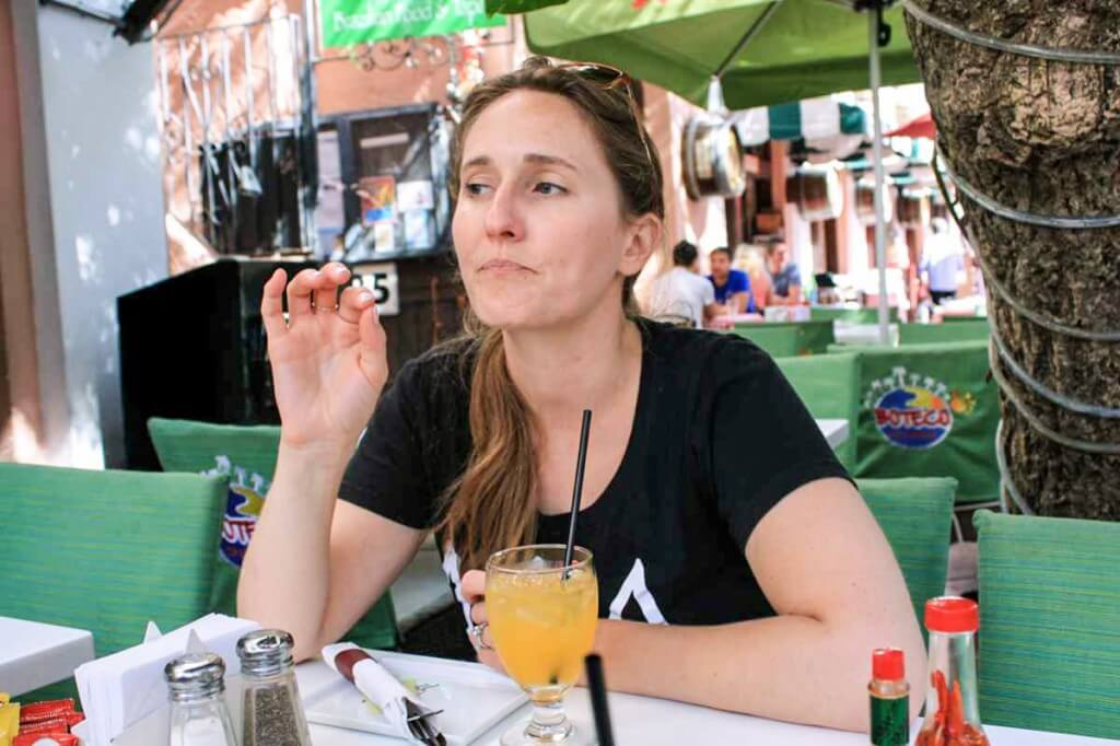 Kelly Woodward on our Food Tour in Miami Beach © Copyright Monika Fuchs, TravelWorldOnline