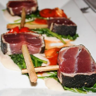 Tuna at the OLA restaurant in Miami Beach