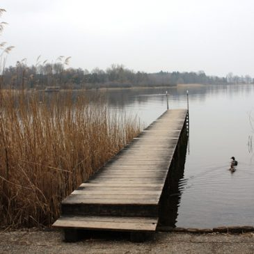 Boat dock on the Chiemsee