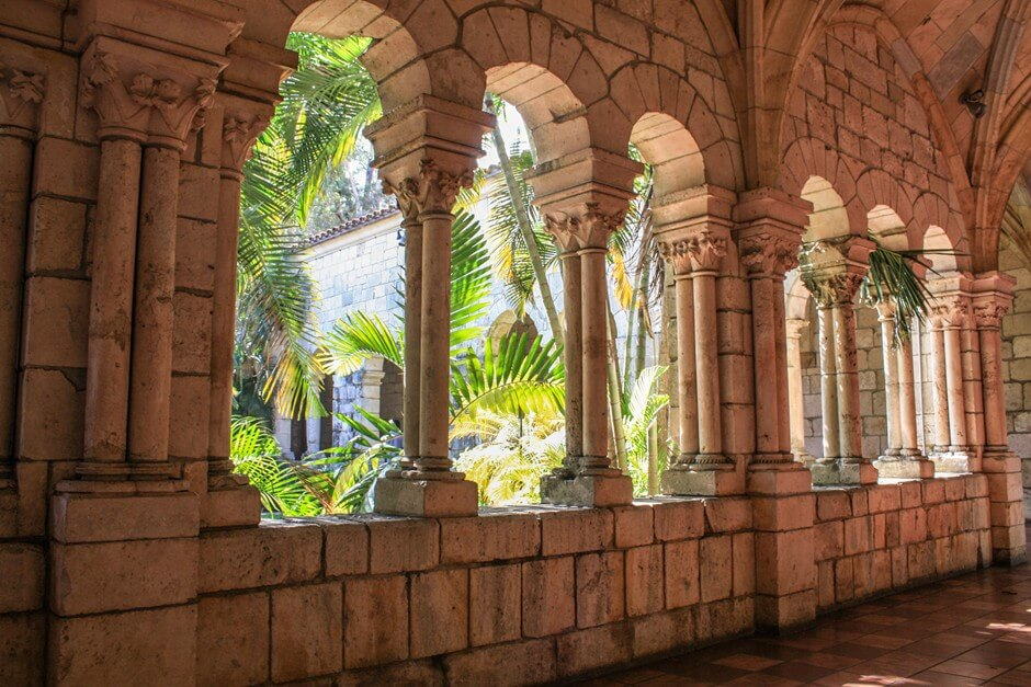 Cloister in the Spanish monastery in Miami Beach