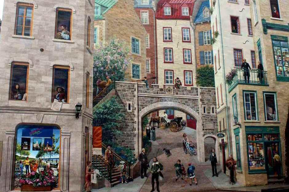 Historische Wandmalereien in der Unterstadt