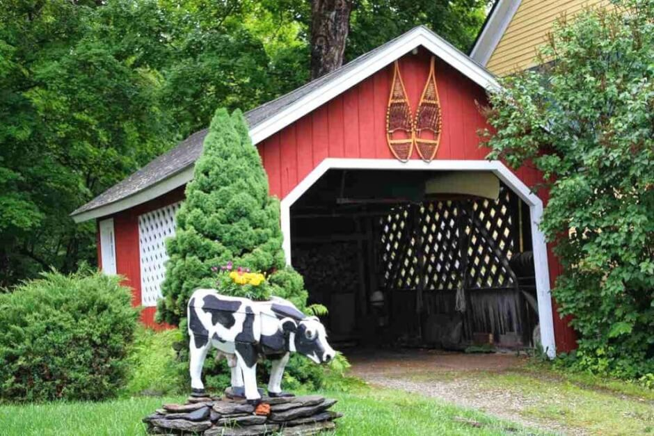 Green Mountain Villages Sogar Garagen sehen aus wie Covered Bridges in Grafton, Vermont
