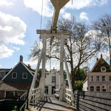 One of the wooden drawbridges in Edam