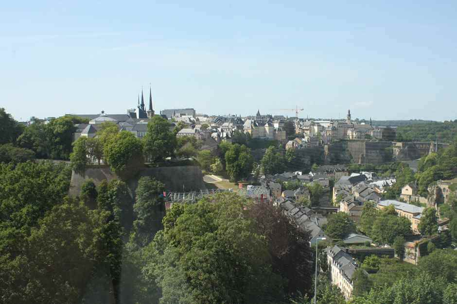 View of Luxembourg from our room in Sofitel, our hotel in Luxembourg City