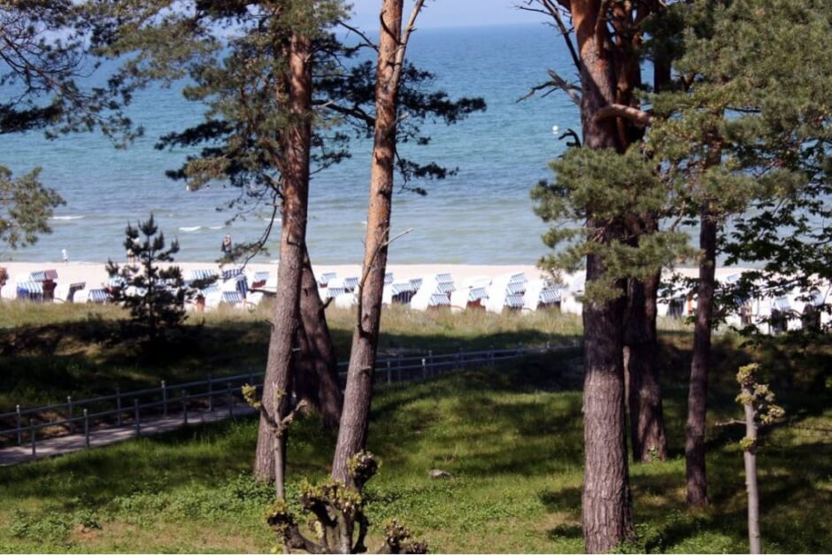 The beach at Binz - hiking destinations Germany. Hiking in East Germany is fun here