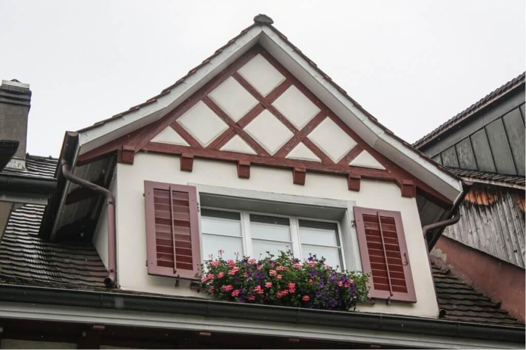 Fachwerkgiebel in Stein am Rhein