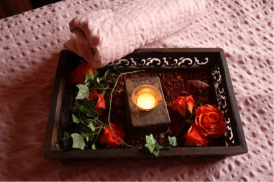 Wellness treatment by candlelight