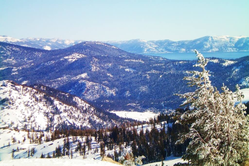 Squaw Valley Blick von Top of Granite Chief Lake Tahoe