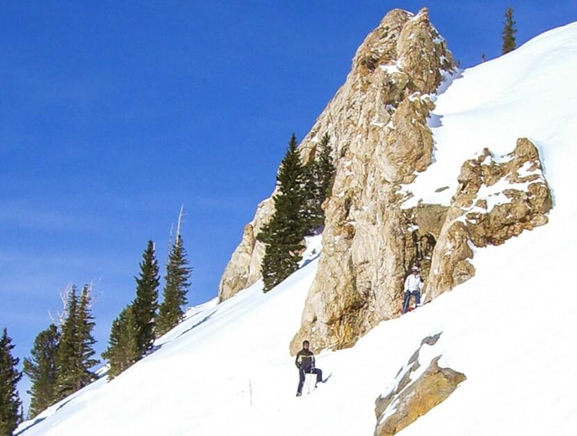 Christian Jannasch beim Skifahren