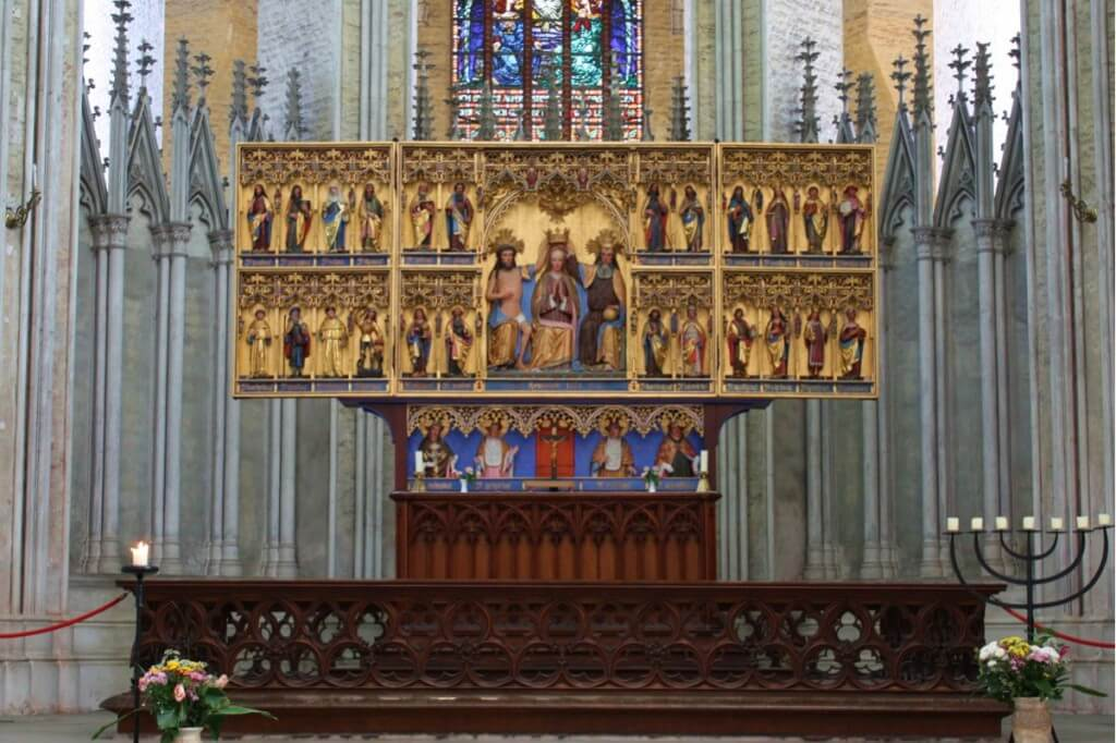 The high altar of St. Mary