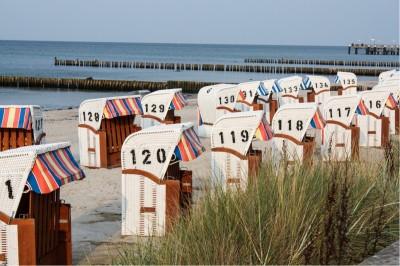 Beach chairs in Kühlungsborn