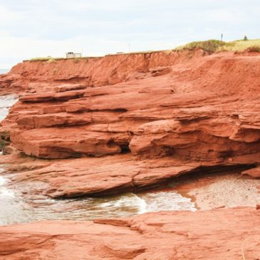 Red rocks in the Prince Edward Island National Park