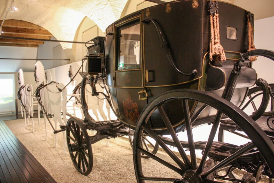 two days in the region of Marche Italy In the coach museum in the Palazzo Buonaccorsi
