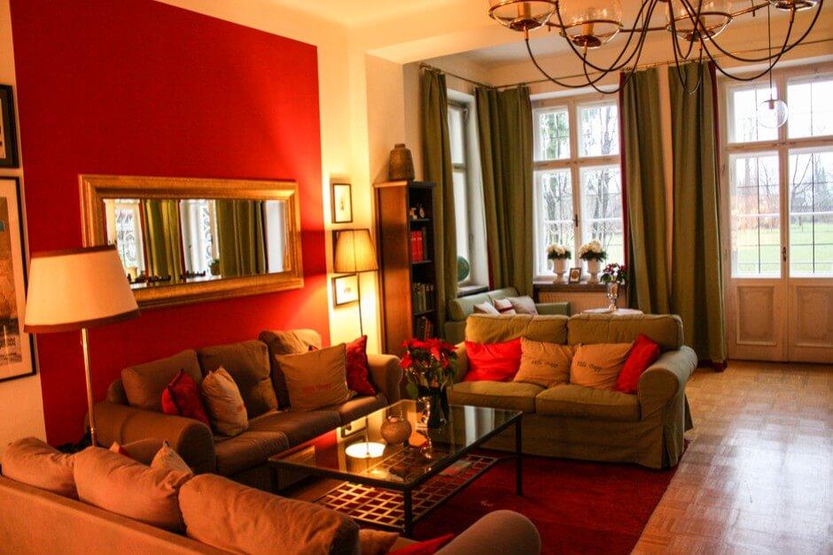 Salon in der Villa Trapp