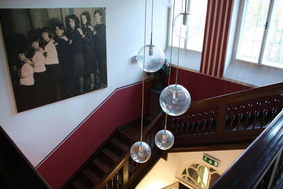 Treppenaufgang in der Villa Trapp
