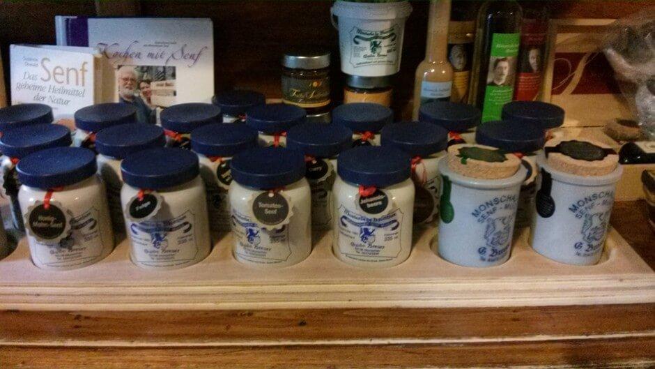 Genuss pur - 21 Senfsorten aus der Historischen Senfmühle Monschau