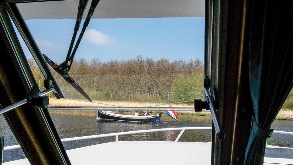 Hausboot in Holland Die Aussicht von unserem Aufenthaltsraum