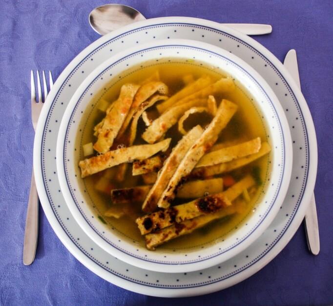 Gesund Essen - Flädlesuppe Rezept