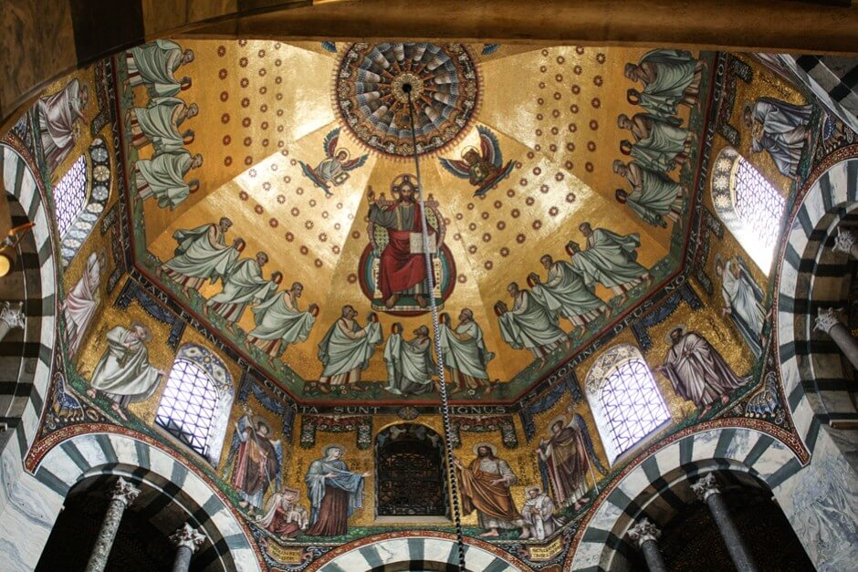 Magnificent ceiling mosaics in Aachen Cathedral North Rhine-Westphalia travel destinations