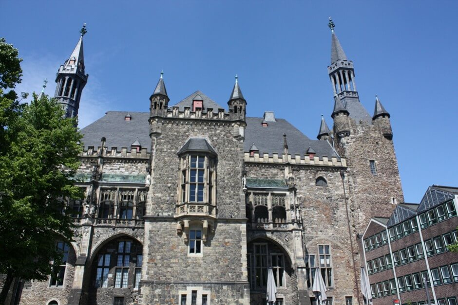 City hall in the old town of Aachen
