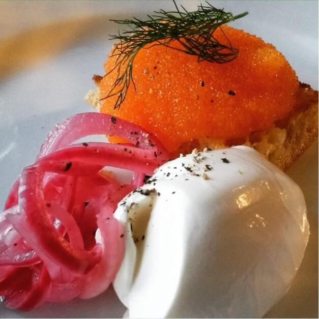 Rogen von der Ostsee Maräne auf Buttertoast