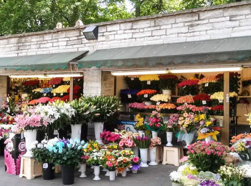 Blumenläden an der Viru Straße