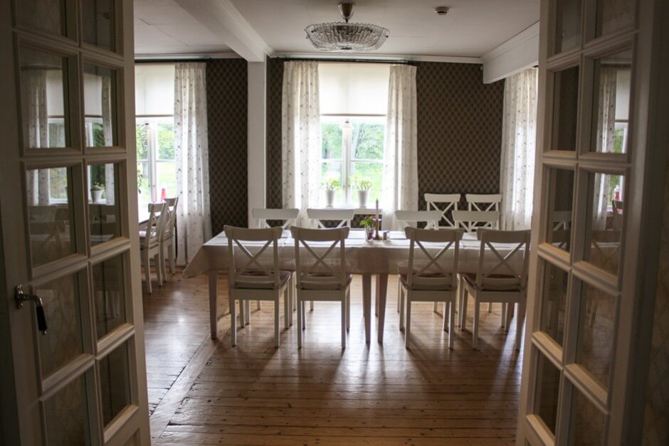 Der Speisesaal in Grimsnäs Herrgard