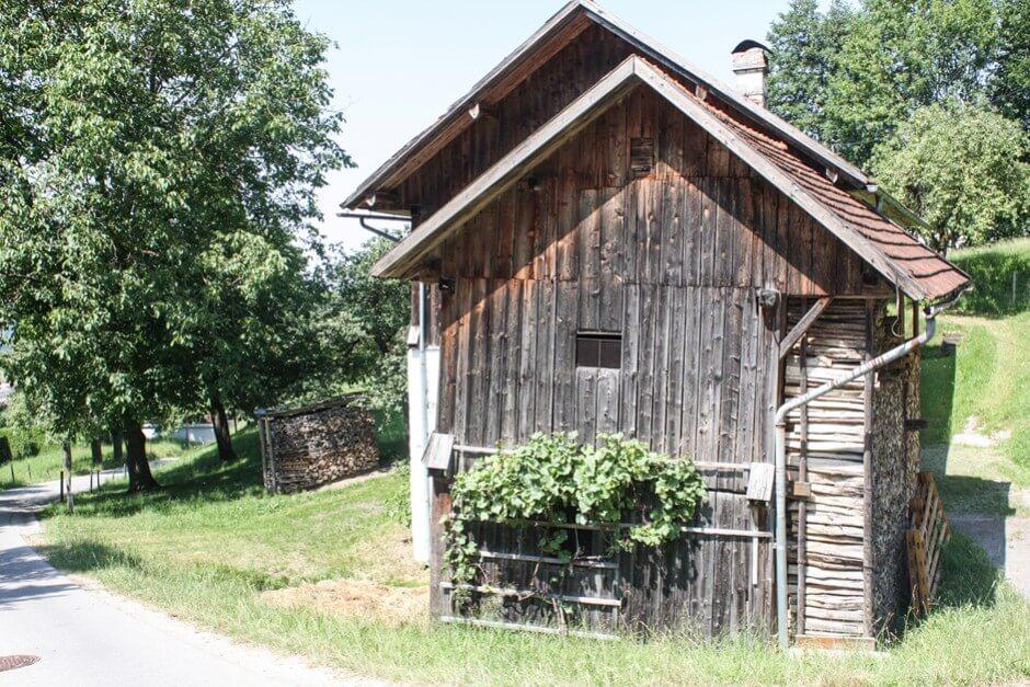 Holzscheune in Schlierbach