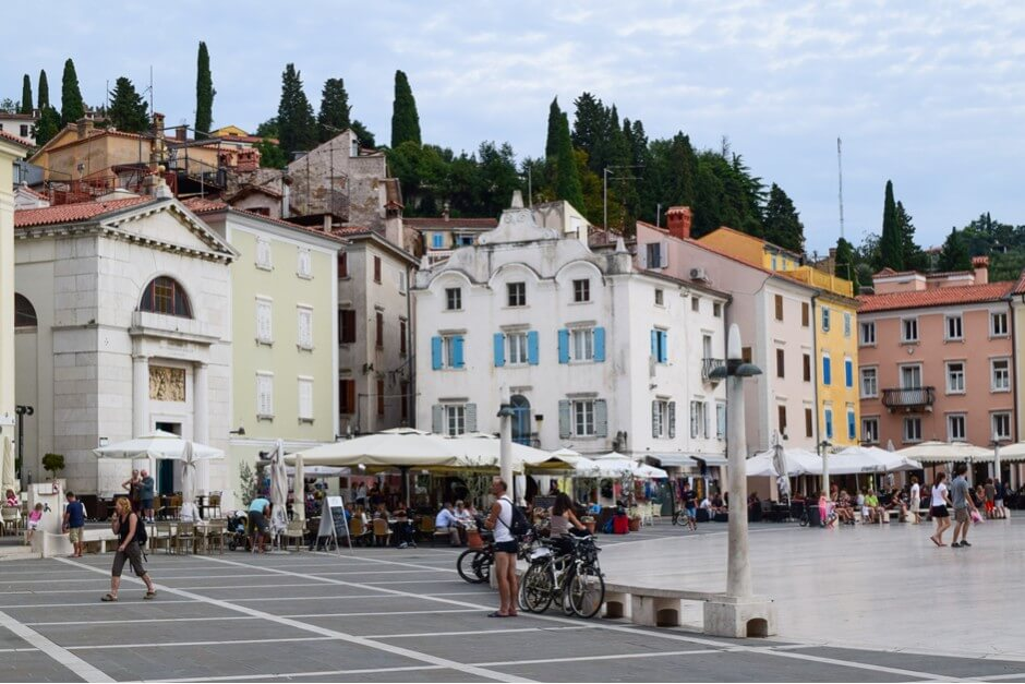 Am Tartini Platz in Piran, das Fischerdorf an der Adria