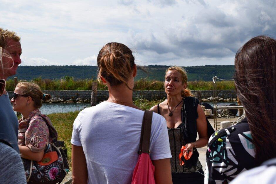 Dr. Irena Fonda zeigt uns ihre Fischfarm in Portoroz Slowenien