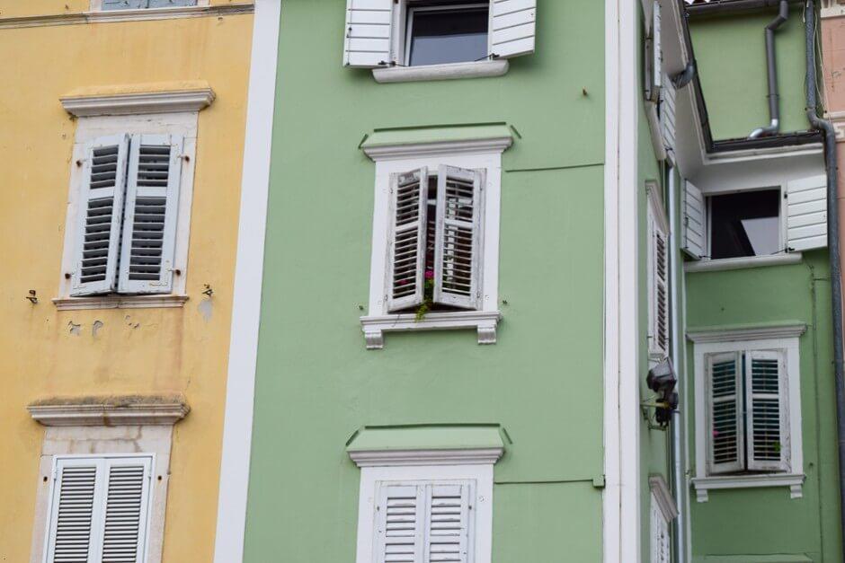 Fassaden in Piran
