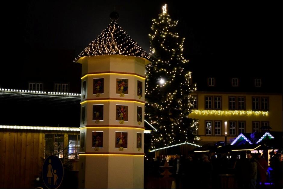 Adventskalender auf dem Weihnachtsmarkt Schweinfurt