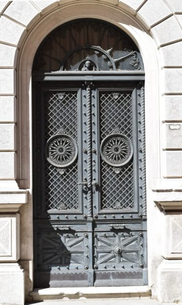 Side door to the Museo Revoltella near the Trieste harbor