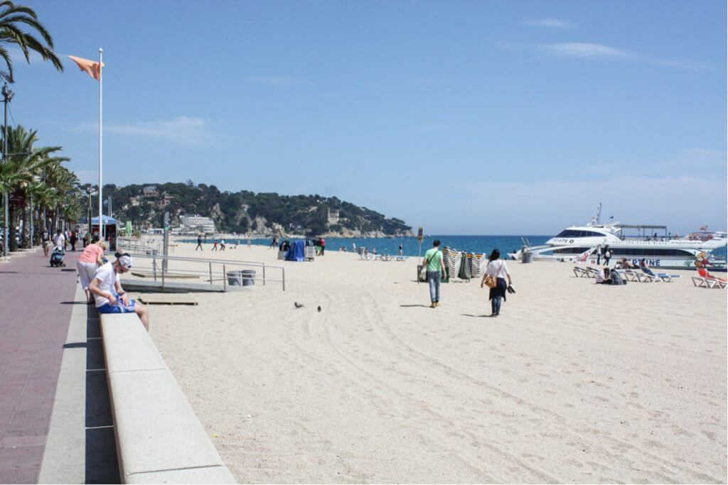 The beach of Lloret de Mar in May