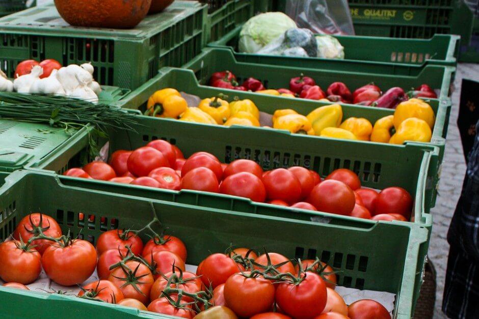 Viktualienmarkt Marktstand auf dem Viktualienmarkt in München