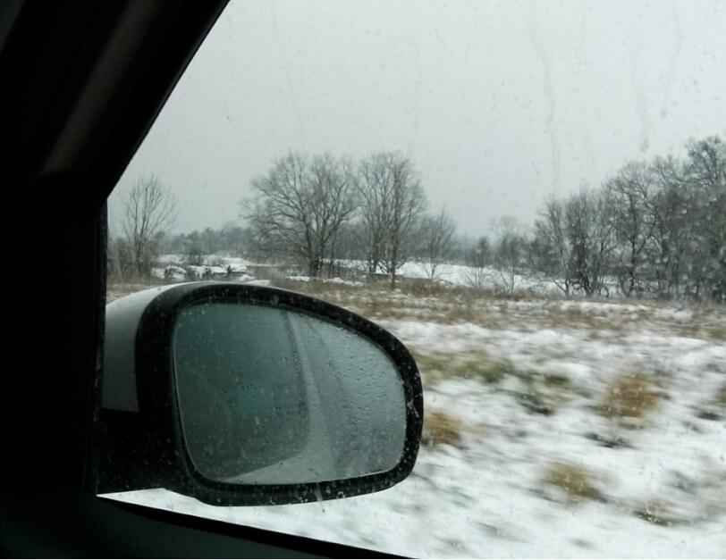 Schlechte Sicht im Winter