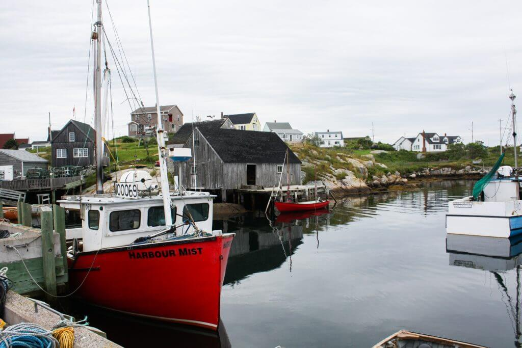 Hafen von Peggys Cove in Nova Scotia