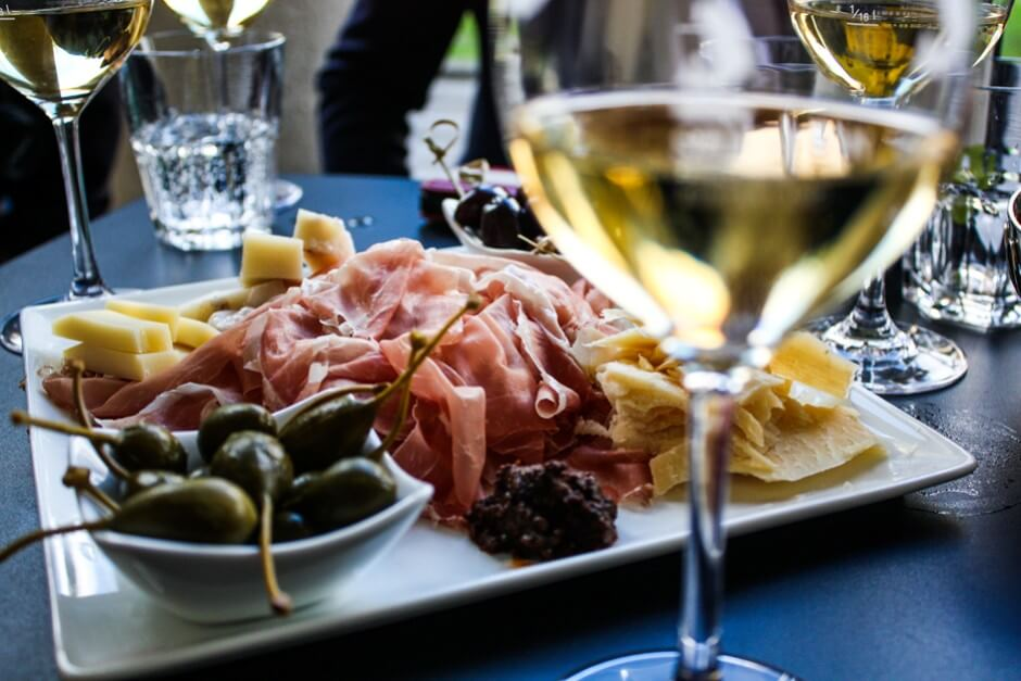 Antipasti are perfect snacks to the wine
