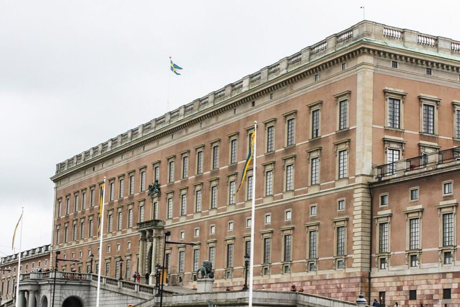 Das Schloss von Stockholm auf Gamla Stan