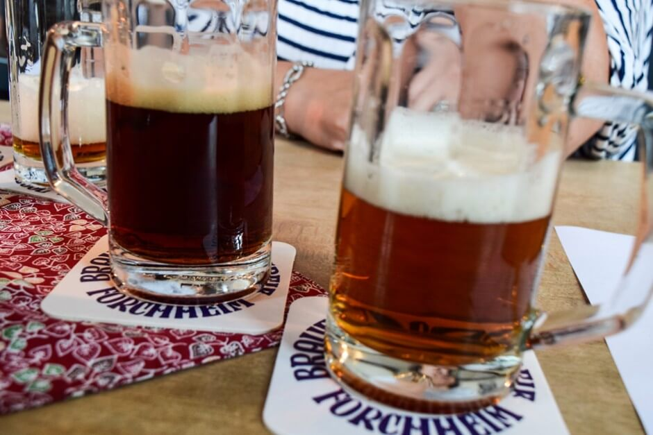 Beer tasting Bamberger Schlenkerla and special smoked beer