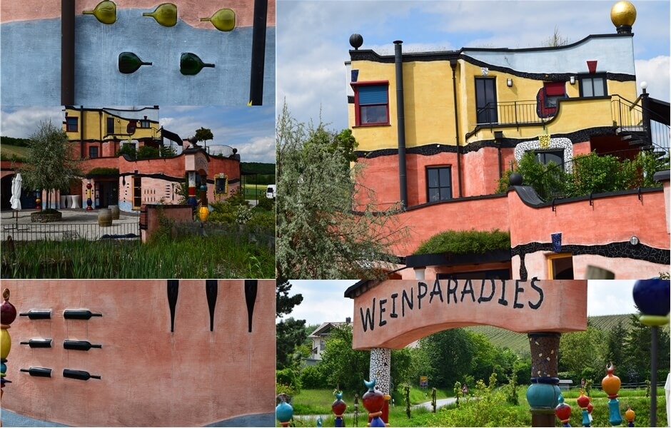 Hundertwasserhaus in Untereisenheim in the Franconian wine region