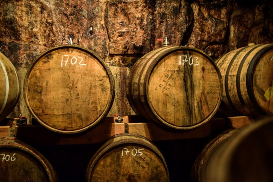 In these barrels, beer matures