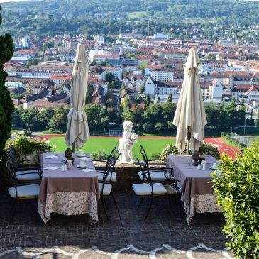 Breakfast terrace overlooking Würzburg